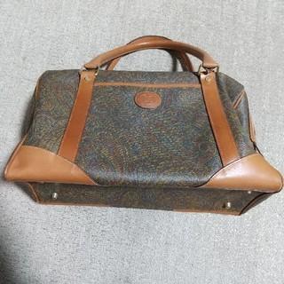 ANGIOLOdelGOBBO ボストンバッグ イタリア製 茶色系 鞄 レトロ(ボストンバッグ)