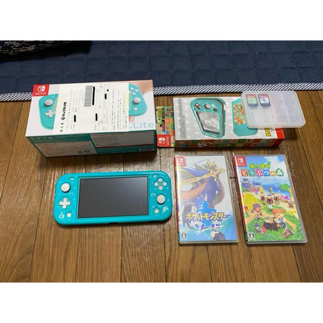 Nintendo Switch(ニンテンドースイッチ)のSwitch Lite・ケース・あつまれどうぶつの森 エンタメ/ホビーのゲームソフト/ゲーム機本体(携帯用ゲーム機本体)の商品写真