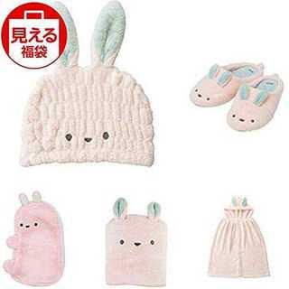 【福袋ウサギ5点セット】シービージャパン タオルキャップ ウサギ & スリッパ (タオル/バス用品)