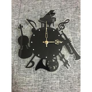 掛け時計 楽器 音楽