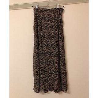 オゾック(OZOC)の洗える ワッシャー総柄ロングスカート(ロングスカート)