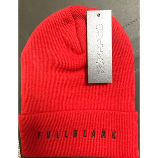 定価4950円  新品未使用 FULL BK ニット帽 赤 レッド(ニット帽/ビーニー)