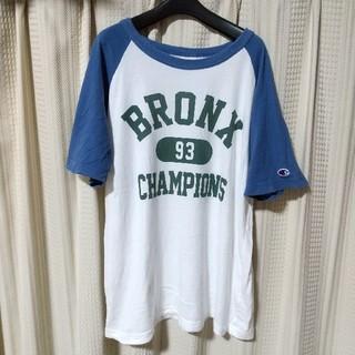 チャンピオン(Champion)のChampion ロゴ ラグランTシャツ Mサイズ チャンピオン アメカジ 古着(Tシャツ/カットソー(半袖/袖なし))