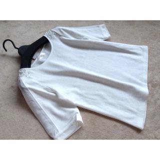 ロディスポット(LODISPOTTO)のロディスポット 肩装飾異素材プルオーバー(カットソー(半袖/袖なし))