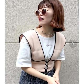 配色ビスチェ×半袖Tシャツセット