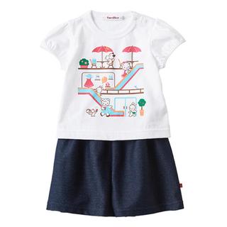 familiar - 新品タグ付き ファミリア 現行品 110 Tシャツ おはなし 半袖 キュロット