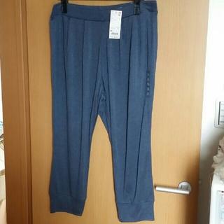 UNIQLO - イージークロップドタックパンツ (ブルー) XL