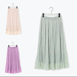 IENA - 2020 Melan Cleuge women サテンプリーツスカート