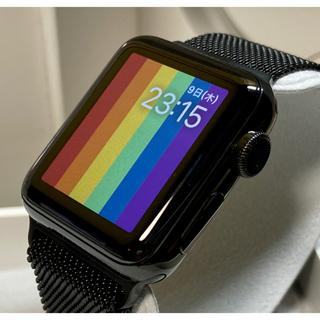 Apple Watch - 希少 Apple Watch シリーズ2 38mm スペースブラックステンレス