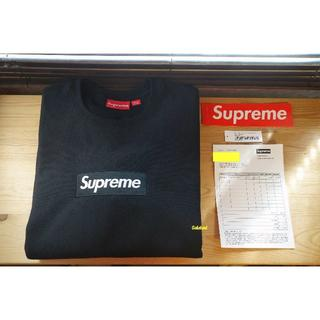 Supreme - 試着のみ Supreme 18AW Box Logo Crewneck 黒 M