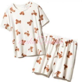 ジェラートピケ(gelato pique)のジェラートピケ♡ ベアモチーフ抗菌防臭Tシャツ&ショートパンツ(ルームウェア)