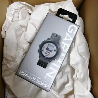ガーミン(GARMIN)のGARMIN  ForeAthlete 245 Music Black Red(腕時計(デジタル))