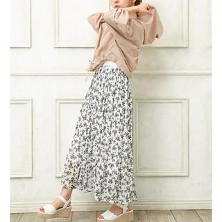 INGNI - INGNI 花柄単色シフォンプリーツスカート