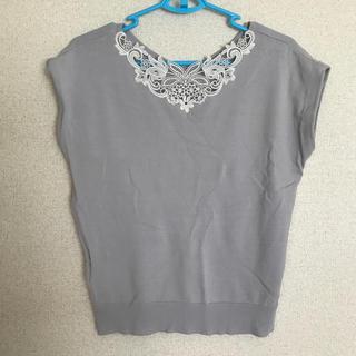 テチチ(Techichi)のレース付きサマーニット(カットソー(半袖/袖なし))
