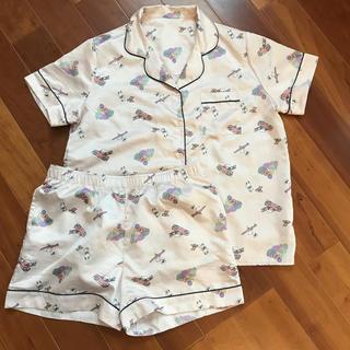 GU - GU サテン スヌーピー ピンク パジャマ XL