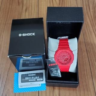 ジーショック(G-SHOCK)の新品 国内正規品 CASIO G-SHOCK GA-2100-4AJF 赤 (腕時計(デジタル))