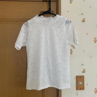 dholic - dholic 花柄レースTシャツ