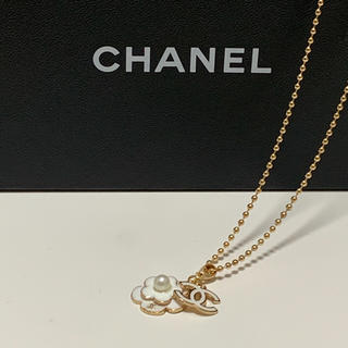 CHANEL - 新品  シャネル  カメリア ロングネックレス