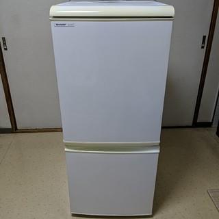 シャープ(SHARP)のシャープ 2ドア冷凍冷蔵庫 SJ-T14R-W(冷蔵庫)