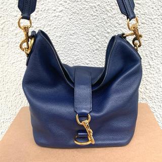 miumiu - ミュウミュウ 完売 入手困難デザイン ネイビー ゴールド ショルダー バッグ
