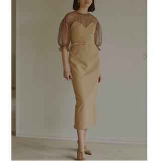 アメリヴィンテージ(Ameri VINTAGE)のAIRY SLEEVE TIGHT DRESS Ameri VINTAGE(ロングドレス)