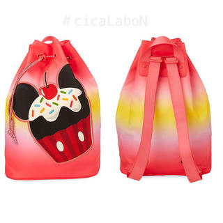 Disney - 【新品】Disney ミッキーマウス カップケーキ プールバッグ リュック