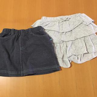 UNIQLO - 女の子 スカート キュロット 90cm 2点