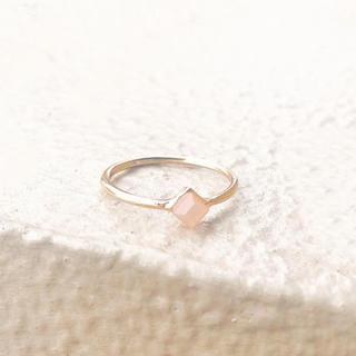 4℃ - [復縁に] [1点限り] rose quartz losange ring*