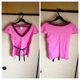 アナスイ(ANNA SUI)のANNA SUIデザイントップス PINK(Tシャツ(半袖/袖なし))