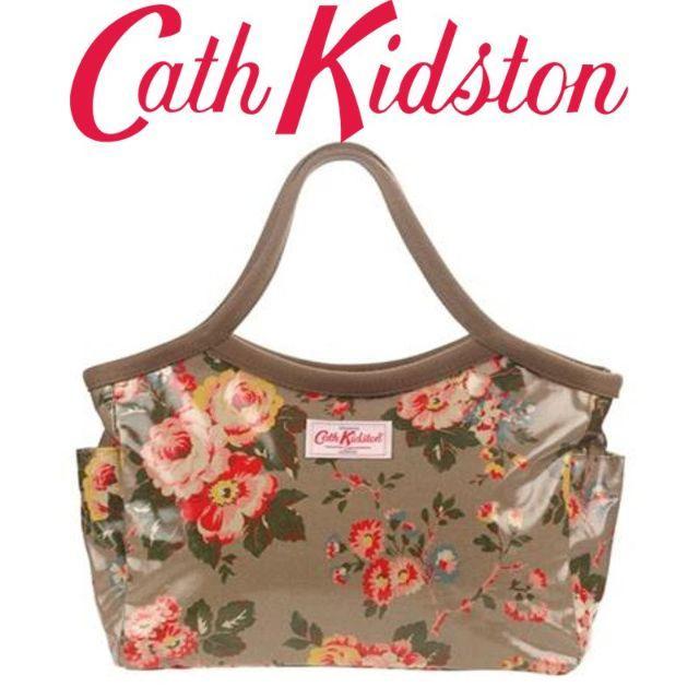 Cath Kidston(キャスキッドソン)の新品 キャスキッドソン バケットバッグ ストーンローズブラウン レディースのバッグ(ハンドバッグ)の商品写真