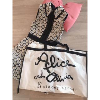 アリスアンドオリビア(Alice+Olivia)のAlice&Oliviaマーガレット花柄レースワンピース♡新品保存袋つきサイズ0(ミニワンピース)