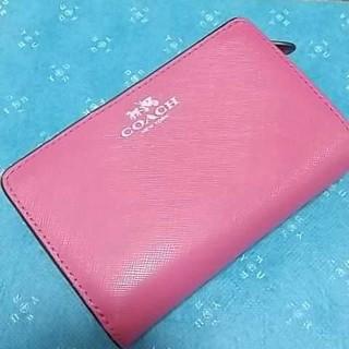 COACH - COACH コーチ  二つ折財布 ピンク