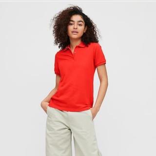 ユニクロ(UNIQLO)のユニクロ 新品未使用 ストレッチカノコポロシャツ L レッド(ポロシャツ)