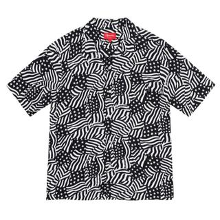 Supreme - Supreme 20ss Rayon S/S Shirt Flags 黒 M