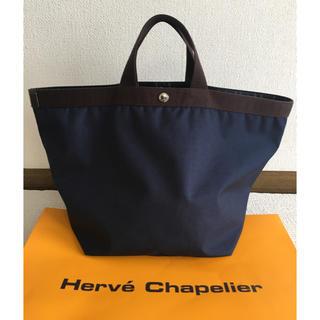 Herve Chapelier - エルベシャプリエ   725 舟形トート ネイビー モカ Lサイズ