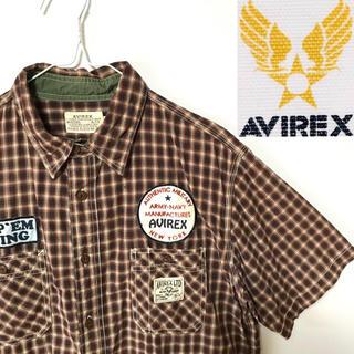 AVIREX - 美品!AVIREX アヴィレックス BILGERATミリタリーチェックシャツ