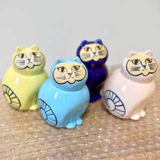 リサラーソン(Lisa Larson)のリサラーソン 陶器 ミア 限定カラー4種セット 新品(置物)