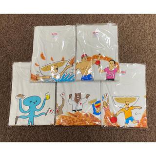 アジノモト(味の素)の味の素ギョーザ キャンペーンTシャツ5枚セット(ノベルティグッズ)