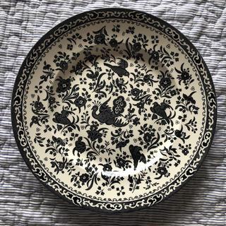 ハロッズ(Harrods)のブラックリーガルピーコック バーレイ  burleigh プレート(食器)