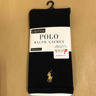 ポロラルフローレン(POLO RALPH LAUREN)の新品 レディース  ポロラルフローレン 10分丈黒レギンス L〜LL寸 日本製(レギンス/スパッツ)