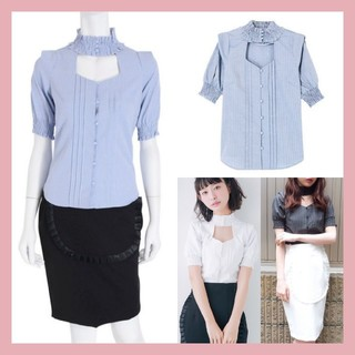 EATME - タグ付き新品♡EATME イートミー シャーリングネックコットンシャツ
