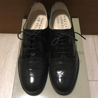 マーガレットハウエル(MARGARET HOWELL)のマーガレットハウエル レースアップシューズ ガラス エナメル(ローファー/革靴)