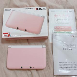 ニンテンドー3DS - Nintendo 3DS LL ピンク×ホワイト