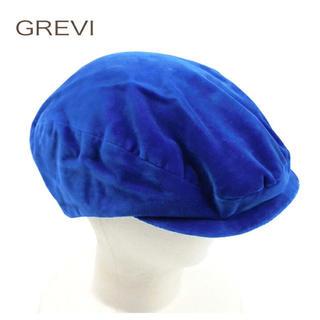 ヒューマンウーマン(HUMAN WOMAN)の【新品】HUMANWOMAN  イタリアGREVI社のハンチング帽 ブルー(ハンチング/ベレー帽)