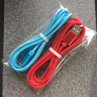 iPhone 充電ケーブル ライトニングケーブル ☆1.5m2本ブルー&レッド(バッテリー/充電器)