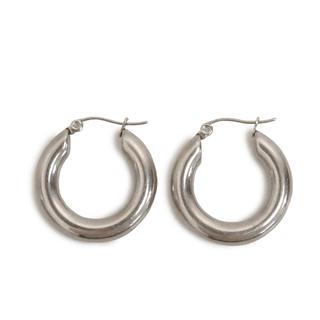 IENA SLOBE - 𓋪volume hoop pierce𓋪silver