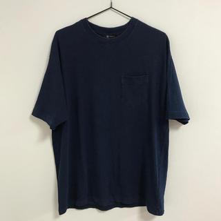 ナノユニバース(nano・universe)のnano universe Mサイズ インディゴクルーネックBIG Tシャツ(Tシャツ/カットソー(半袖/袖なし))