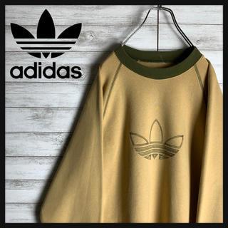 adidas - 【希少カラー】アディダス☆ビッグロゴ入りスウェット 刺繍ロゴ 人気ベージュ 定番