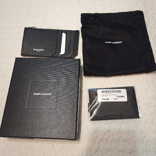 Saint Laurent(サンローラン)のSAINT LAURENT PARIS ジップ カードケース コインケース メンズのファッション小物(コインケース/小銭入れ)の商品写真