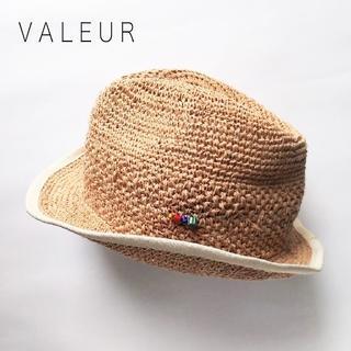 ネストローブ(nest Robe)のバルール✨VALEUR ストローハット 日本製 ラフィアハット 紫外線対策にも♪(麦わら帽子/ストローハット)